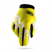 100% Glove Itrack Yellow Fluo